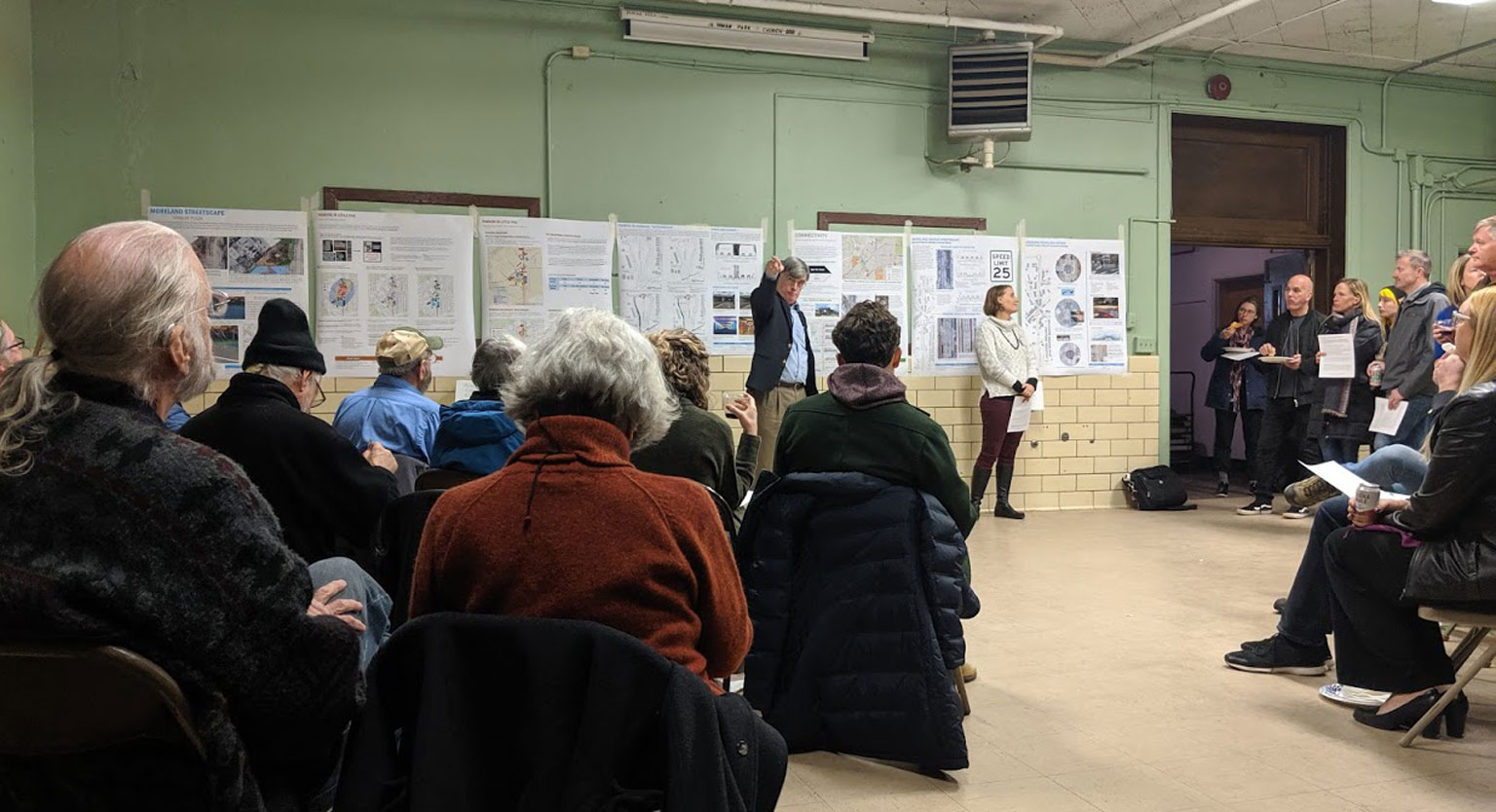 Public meeting for the Little Five Points studio