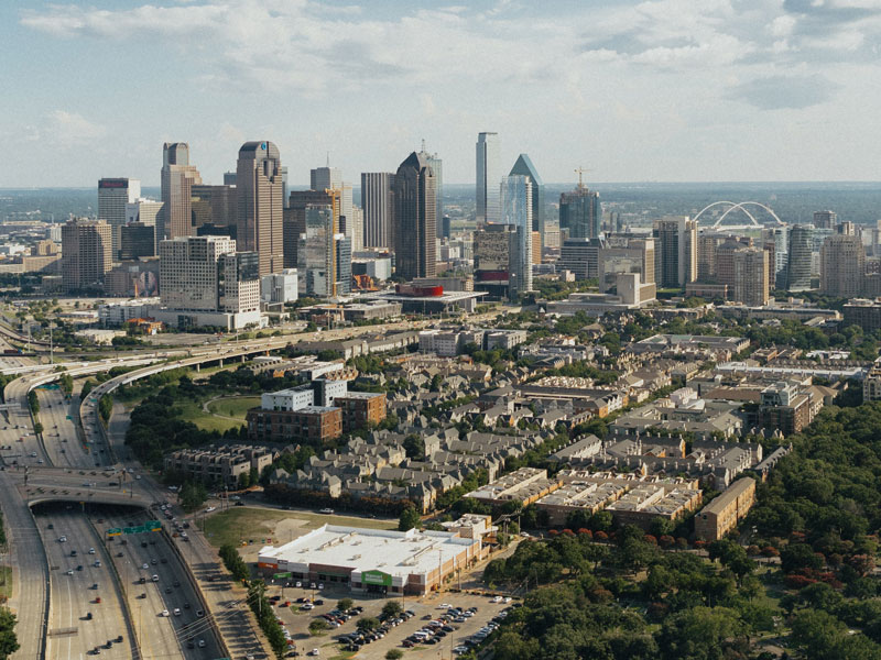 Dallas, Texas skyline.
